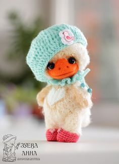 Crochet Duck crochet toy crochet teddy bear amigurumi от zuevaanna