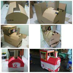 How to make cardbord train
