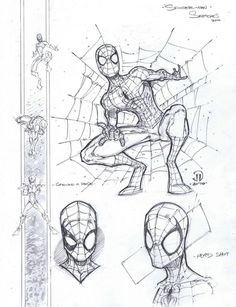My first 100 Spidey poses on one page! Needless to say, this image is gonna' scroll. I just realized when putting this together that I started these sketches back in October of . Spiderman Noir, Spiderman Drawing, Spiderman Theme, Amazing Spiderman, Comic Book Characters, Comic Books Art, Comic Art, Comic Drawing, Drawing Sketches