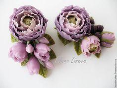 Купить Цветочные броши, холодный фарфор. - брошь с цветами и ягодами, брошь, цветочная брошь