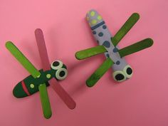 clothespin dragonflies!