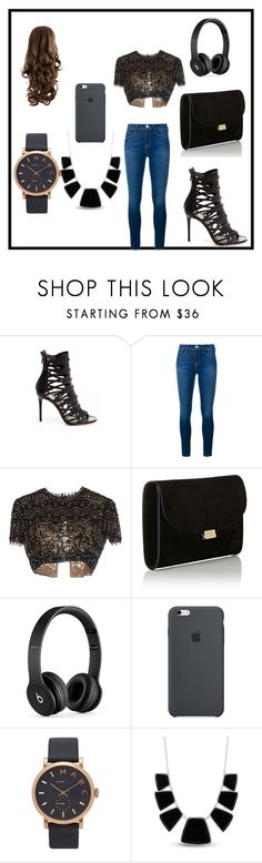 """Girls night out!!!!!!!!"" by kaitlynthestylist on Polyvore featuring Frame Denim, Emilio Pucci, Mansur Gavriel, Beats by Dr. Dre, Marc Jacobs and Karen Kane"