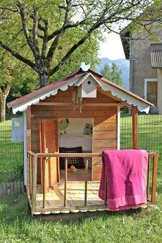 Cabane pour enfant en bois de r cup 39 diy palette cabane enfant animaux diy pinterest diy - Cabanes de jardin originales ...