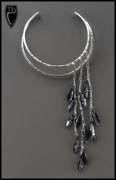 Todd Conover Leaf Choker, 2017 patinated sterling silver