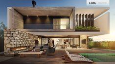 Modern Small House Design, Modern Villa Design, Dream Home Design, Modern House Plans, Modern Contemporary House, Modern Architecture House, Facade Architecture, Facade Design, Exterior Design