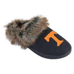 Women's Tennessee Volunteers Scuff Slippers, Size: Medium, Black