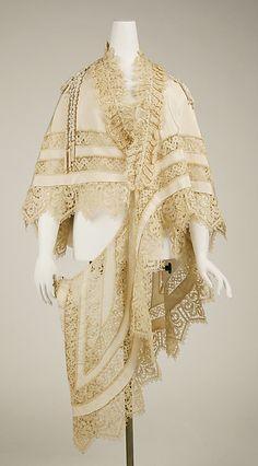 Mantle Manufacturer: Jay's of London (British) Date: ca. 1863 Culture: British Medium: silk
