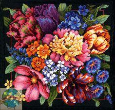 needlepoint images | Dimensions - Floral Splendor - Cross Stitch World