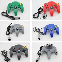 NEW Long Wired Controller Joystick for Nintendo 64 Game System Gamepad Nintendo 64 Games, Nintendo N64, Playstation, Xbox One Controller, Wii, Gaming, Shop, Retro Games, Videogames