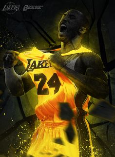A by Kode Logic in NBA: Stunning Digital Art Bryant Bryant Black Mamba Bryant Cartoon Bryant nba Bryant Quotes Bryant Shoes Bryant Wallpapers Bryant Wife Kobe Bryant Family, Kobe Bryant 24, Lakers Kobe Bryant, Mvp Basketball, Basketball Legends, Basketball Girlfriend, Basketball Quotes, Basketball Pictures, Sport Football