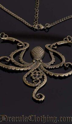 steampunk octopus jewelry