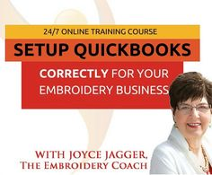 http://theembroiderycoach.com/embroidery-business-bookkeeping-special/  Save some green! Only $197 includes all of the workshop replays (Very helpful and you won't see this price lower). Get organized and rid of your headache. Know where you are at in your business and quickly get out an invoice! Ends Midnight, Monday, March 13th.