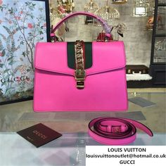 25be1e100b968 Gucci Sylvie Chain-Embellished Leather Large Shoulder Bag Calfskin Leather  Fall Winter 2016 Collection Pink