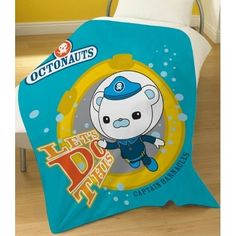 Octonauts Lets Do This Captain Barnacles Bear Fleece Blanket Throw Cover Gift - Jack's room