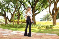 Marina Casemiro » Look: macacão preto e branco + babado!