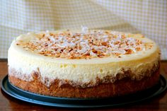 No cracking, super-velvety texture and just the right amount of coconut. Will definitely make again! Sweetened the cheesecake with stevia. Coconut Cheesecake, Cheesecake Recipes, Dessert Recipes, Pineapple Cheesecake, Just Desserts, Delicious Desserts, Yummy Food, Cupcakes, Cupcake Cakes
