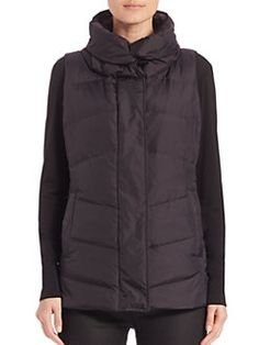 Eileen Fisher - High-Collar Puffer Vest