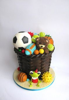 Toy storage cake....mostly balls  by Delice