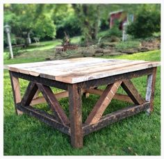 "***Please contact us first for accurate shipping rates before purchasing this piece***This rustic coffee table is 32""x 32"" and is made using repurposed barn woo"