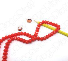 cristalli abacus 10mm x 8mm rosso pastello in vendita nel sito www.gugapluff.it