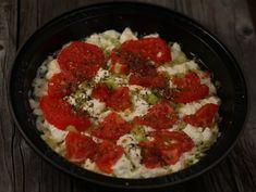 Telemea+cu+rosii+la+cuptor Clean Eating Recipes, Cauliflower, Grains, Rice, Vegetables, Cooking, Buffet, Food, Salads