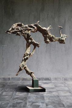 Natural driftwood freestanding sculpture