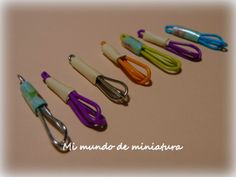 Mi mundo de miniature: how to make wisks with paperclips..clever...
