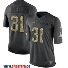 Men's Seattle Seahawks #31 Kam Chancellor Black Anthracite 2016 Salute To Service Stitched NFL Nike Limited Jersey