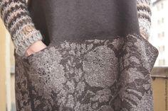 Купить Валяное платье Горький шоколад - коричневый, авторская ручная работа, платье валяное, нуновойлок