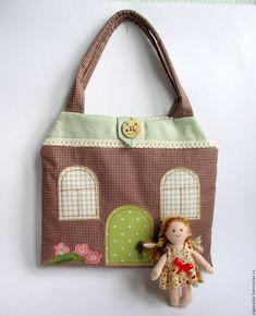Купить Игровой домик-сумочка для куколки - комбинированный, домик для кукол, домик, детская сумочка