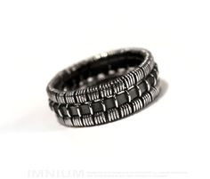 USX III ring - industrial sterling silver ring