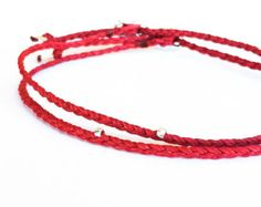 Beadstheater braided friendship bracelet in waxed by Beadstheater