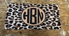 Black brown cheetah Monogram License Plate personalized black brown cheetah license plate monogram c Car Monogram, Monogram License Plate, Front License Plate, License Plates, Personalized Car Tags, Custom Car Accessories, Cute Cars, Black And Brown, Future Car