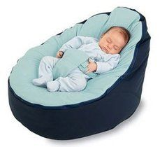 Blue Bean Bag with Seat Belt