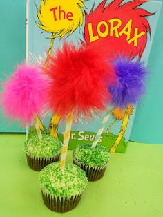 *Rook No. 17: recipes, crafts & creative nesting*: Lorax Truffula Tree Cupcakes -- Easy DIY