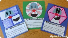 Fun fraction activity that includes writing.