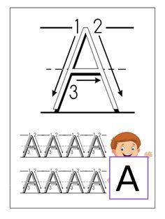 Didattica: Impariamo a tracciare le lettere Maiuscole Preschool Room Decor, Mazes For Kids, Preschool Printables, Educational Programs, English Vocabulary, Kindergarten, Thats Not My, Homeschool, Teaching