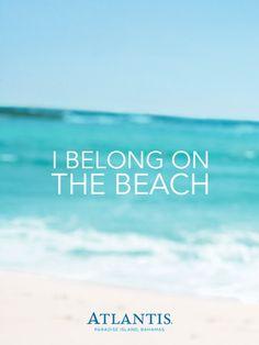 I belong at the beach
