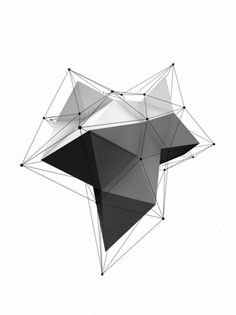 Details we like / Digital Art / Origami / Black and White / Triangle / at leManoosh