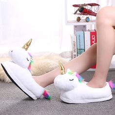 Women Winter Warm Indoor Fur Slides Slippers Cute Cartoon Plush Unicorn Slippers For Men White furry Unisex Home House Slippers. Product ID: Apollo Box, Cute Slippers, Winter Slippers, Love Is In The Air, Cute Plush, Dog Art, Types Of Shoes, Cute Cartoon, Women's Pumps