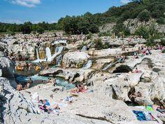 Les cascades du Sautadet à La Roque