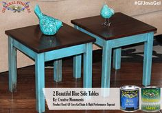Creative Moments, http://creativemoments10.blogspot.ca/, used the one and only GF Java Gel Stain to give these table tops a stunning new look. You can find your favorite GF products at Woodcraft, Rockler Woodworking stores or Wood Essence in Canada. You can also use your zip code to find a retailer near you at http://generalfinishes.com/where-buy#.UvASj1M3mIY. #generalfinishes #javagel #onecoatwonder