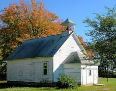 Old school house in Wisconsin.  Photo by strandviewphotos.