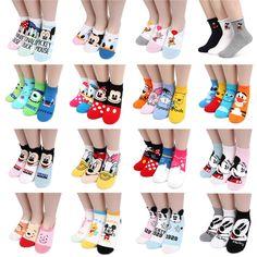 [BUY5+FREE1] Choice Disney Socks !! Pixar Mickey Minnie Mouse Spongebob Socks