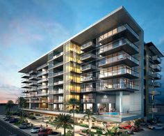 VIP Lifestyle Ascends to New Heights for Owners of Scottsdale's New Condo Tower Condominium Architecture, Retail Architecture, Minimal Architecture, Concept Architecture, Residential Architecture, Building Elevation, Building Facade, Building Exterior, Building Design