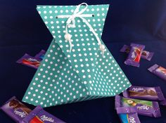Origami gift bag, using Stampin'Up! Brights DSP Stack.