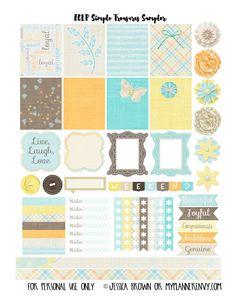 My Planner Envy: Simple Treasures Sampler - Free Planner Printable