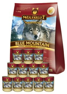 Wolfsblut Blue Mountain mit zartem Wildfleisch und schmackhaften Waldfrüchten. Das getreidefreie Futter ist gesund und Euren Hunden wird es sicher schmecken. Ausprobieren lohnt sich! #wolfsblut #healthfood24
