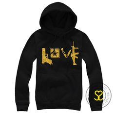 Army Love Weapons Hoodie - WANT!