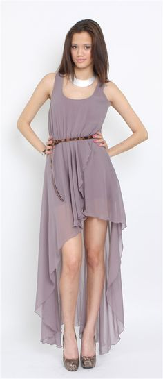 Love Rose Asymmetrical Maxi Dress- Love Hi Low Dresses- Love Dresses- $84.99